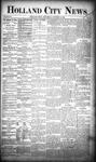 Holland City News, Volume 18, Number 38: October 19, 1889