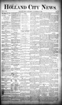 Holland City News, Volume 18, Number 43: November 23, 1889