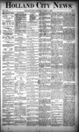 Holland City News, Volume 19, Number 7: March 15, 1890