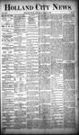 Holland City News, Volume 19, Number 13: April 26, 1890