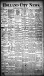 Holland City News, Volume 19, Number 20: June 14, 1890