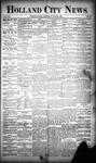 Holland City News, Volume 19, Number 21: June 21, 1890