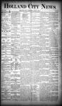 Holland City News, Volume 19, Number 24: July 12, 1890