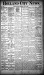 Holland City News, Volume 19, Number 26: July 26, 1890