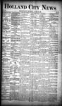 Holland City News, Volume 19, Number 29: August 16, 1890 by Holland City News