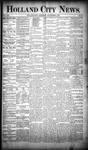 Holland City News, Volume 19, Number 32: September 6, 1890 by Holland City News