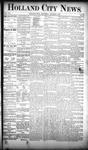 Holland City News, Volume 19, Number 36: October 4, 1890