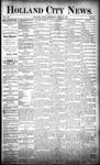 Holland City News, Volume 20, Number 13: April 25, 1891