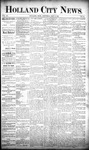 Holland City News, Volume 20, Number 14: May 2, 1891