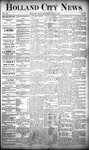 Holland City News, Volume 20, Number 18: May 30, 1891