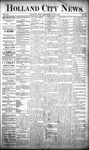 Holland City News, Volume 20, Number 19: June 6, 1891