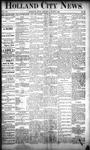Holland City News, Volume 20, Number 22: June 27, 1891