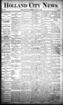 Holland City News, Volume 20, Number 23: July 4, 1891