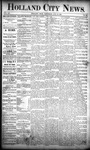 Holland City News, Volume 20, Number 29: August 15, 1891 by Holland City News