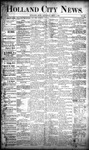 Holland City News, Volume 20, Number 32: September 5, 1891