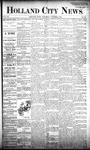 Holland City News, Volume 20, Number 36: October 3, 1891 by Holland City News