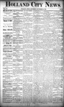 Holland City News, Volume 20, Number 43: November 21, 1891
