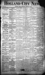 Holland City News, Volume 21, Number 1: January 30, 1892