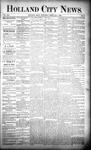 Holland City News, Volume 21, Number 2: February 6, 1892