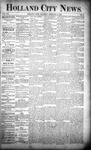 Holland City News, Volume 21, Number 3: February 13, 1892