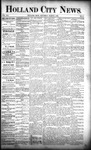 Holland City News, Volume 21, Number 6: March 5, 1892
