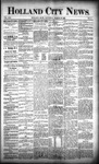 Holland City News, Volume 21, Number 9: March 26, 1892