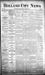 Holland City News, Volume 21, Number 11: April 9, 1892
