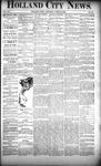 Holland City News, Volume 21, Number 14: April 30, 1892
