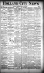 Holland City News, Volume 21, Number 17: May 21, 1892