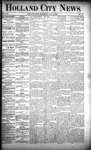Holland City News, Volume 21, Number 25: July 16, 1892