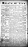 Holland City News, Volume 21, Number 29: August 13, 1892 by Holland City News