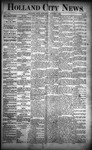 Holland City News, Volume 21, Number 36: October 1, 1892 by Holland City News
