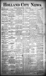 Holland City News, Volume 21, Number 38: October 15, 1892 by Holland City News