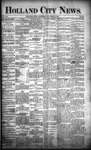 Holland City News, Volume 21, Number 40: October 29, 1892