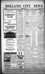 Holland City News, Volume 45, Number 48: November 30, 1916
