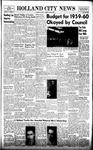 Holland City News, Volume 88, Number 18: April 30, 1959