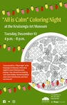 """All is Calm"" Coloring Night at the Kruizenga Art Museum by Kruizenga Art Museum and Lisa Barney"