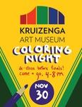 Kruizenga Art Museum Coloring Night