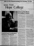News from Hope College, Volume 5.3: September-October, 1974