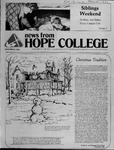 News from Hope College, Volume 13.3: December, 1981