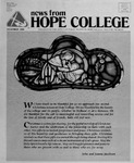 News from Hope College, Volume 20.3: December, 1988