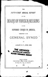 51st Annual Report of the Board of World Missions
