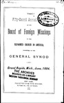 52nd Annual Report of the Board of World Missions