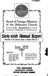 66th Annual Report of the Board of World Missions