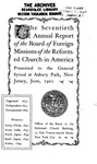70th Annual Report of the Board of World Missions