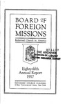 85th Annual Report of the Board of World Missions