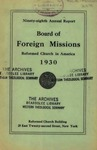 98th Annual Report of the Board of World Missions
