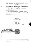 102nd Annual Report of the Board of World Missions