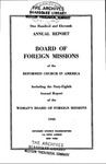 111th Annual Report of the Board of World Missions