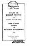 112th Annual Report of the Board of World Missions by Reformed Church in America